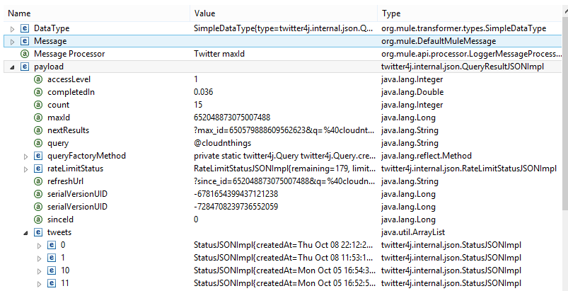 twitter payload