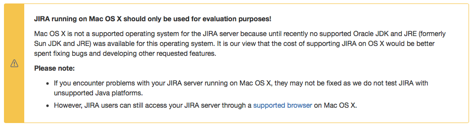 osx not supported